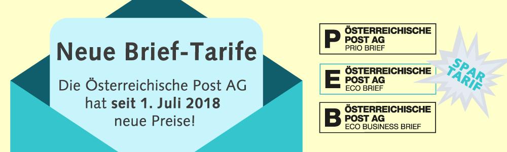 Neue Brief Tarife Bei Der österreichischen Post Ag Seit 1 Juli